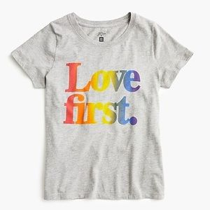 J. CREW x HUMAN RIGHTS CAMPAIGN LOVE FIRST T-SHIRT